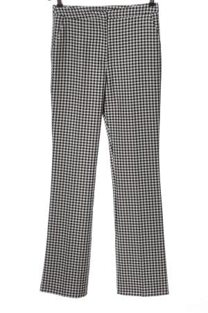 Asos Spodnie materiałowe czarny-biały Wzór w kratkę W stylu biznesowym