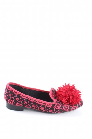 Asos Mary Jane Ballerinas black-pink allover print casual look