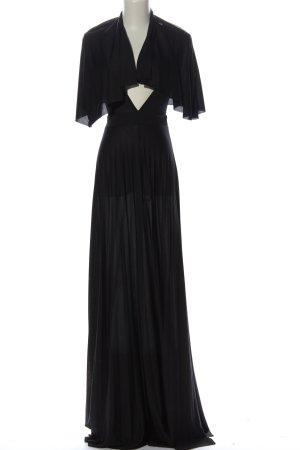 Asos Maxikleid schwarz extravaganter Stil
