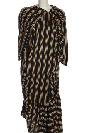 Asos Robe longue noir-doré motif rayé style décontracté