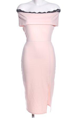 Asos Midikleid pink-schwarz Elegant