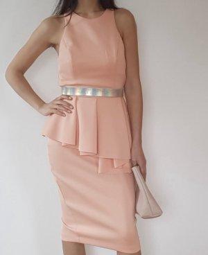 Asos Midi Dress apricot-silver-colored