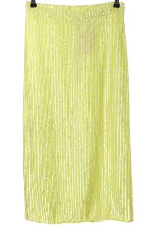Asos Midirock blassgelb-silberfarben Streifenmuster Elegant