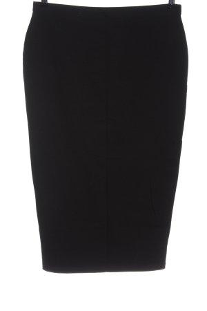 Asos Spódnica midi czarny W stylu biznesowym