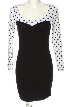 Asos Minikleid schwarz-weiß Punktemuster Casual-Look