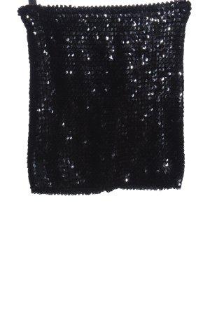 Asos Minirock schwarz-silberfarben Elegant