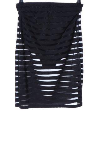 Asos Minirock schwarz Streifenmuster extravaganter Stil