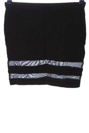 Asos Minirock schwarz Streifenmuster Casual-Look