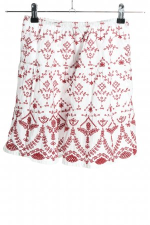 Asos Minirock weiß-rot Allover-Druck Casual-Look
