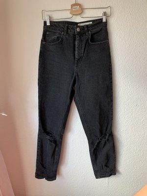 Asos High Waist Jeans black-dark grey