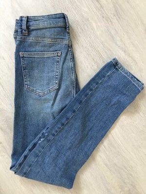 Asos Jeans taille haute gris ardoise