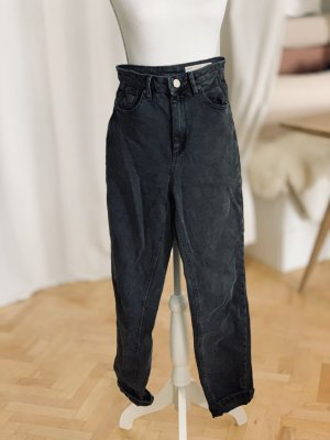 ASOS Mom Jeans Taillenjeans Vintage schwarz Waschung 26/32