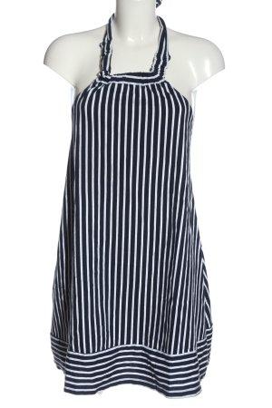 Asos Halter Dress black-white striped pattern casual look