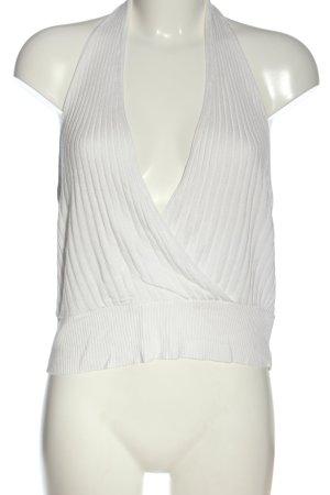 Asos Top z dekoltem typu halter biały W stylu casual