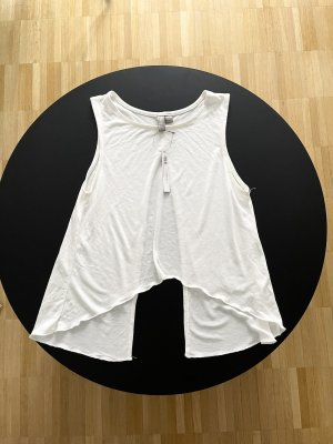 Asos Oberteil mit offenem Rücken Weiß XS Neu mit Etikett
