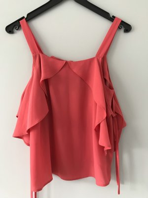 Asos Top cut out rojo frambuesa-magenta