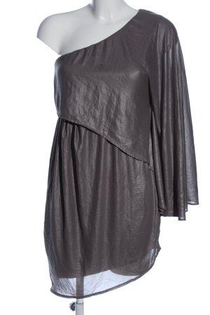Asos Vestido de un hombro gris claro elegante