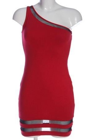 Asos Robe asymétrique rouge-argenté élégant