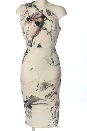 Asos One-Shoulder-Kleid abstraktes Muster Elegant