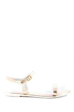 Asos Sandalias para uso en exteriores color oro estampado de animales elegante