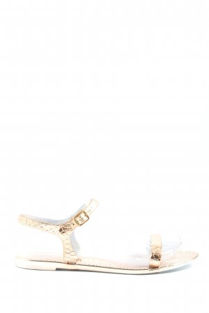 Asos Outdoor Sandals gold-colored animal pattern elegant