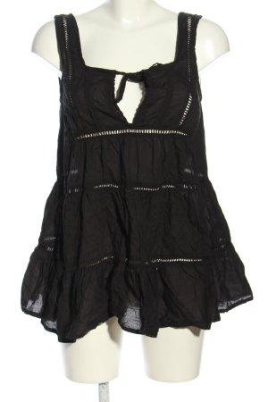 Asos Oversized Bluse schwarz Elegant