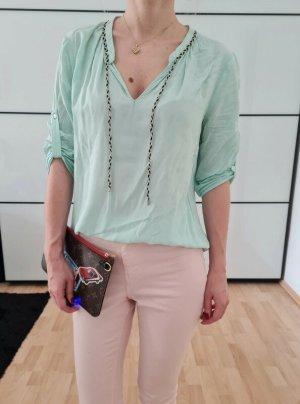 Asos oversized Bluse 34 36 XS S mint knit Shirt Hemd Tunika Top