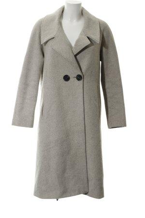 Asos Oversized Mantel hellbeige-grau Streifenmuster