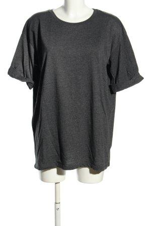 Asos Camicia oversize grigio chiaro puntinato stile casual