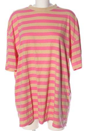 Asos Camicia oversize crema-rosa motivo a righe stile casual