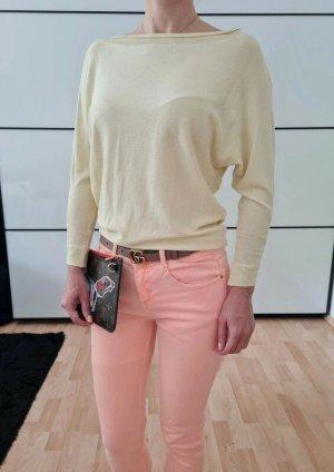 Asos oversized Shirt XXS XS 32 34 gelb knit Strick Pulli Pullover Oberteil Bluse Sweatshirt Neu