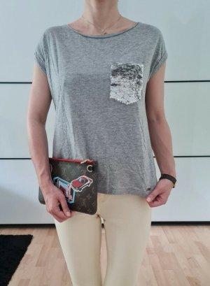 Asos T-shirt srebrny-szary