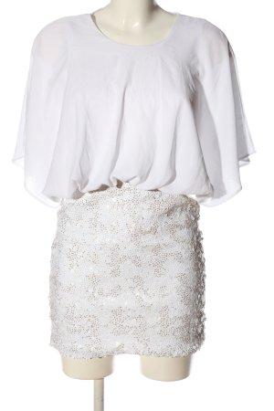 Asos Pailettenkleid weiß Elegant