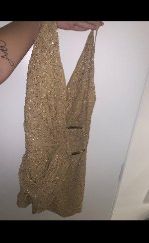 Asos Petite Sequin Dress gold-colored-bronze-colored