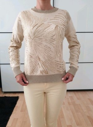 Asos Pailletten Pullover 34 36 XXS XS S creme nude knit Pulli Bluse Shirt Neu