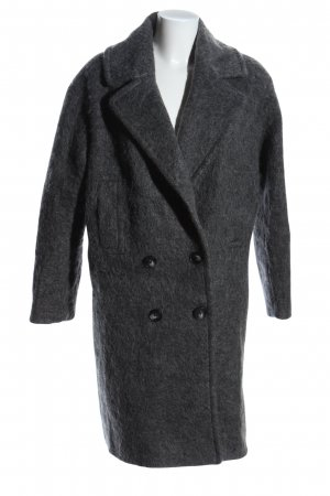 Asos Pea Coat light grey flecked casual look
