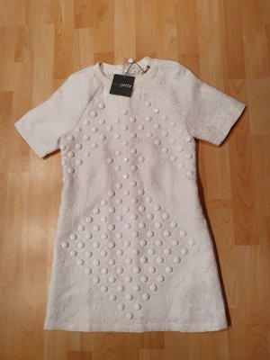 Asos Petite Robe à manches courtes blanc