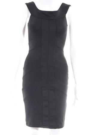 Asos Petite Evening Dress black striped pattern business style