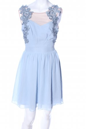 Asos Petite Chiffon Dress blue-natural white elegant