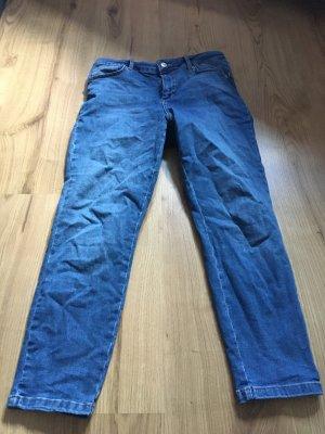 Asos Petite Hoge taille broek blauw-staalblauw
