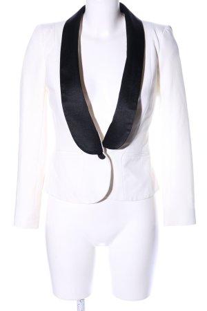 Asos Petite Blazer court blanc-noir style d'affaires
