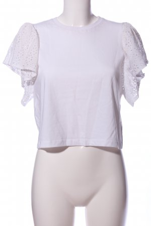 Asos Petite Short Sleeved Blouse white casual look