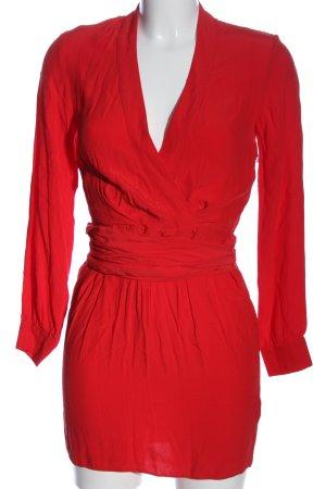 Asos Petite Robe à manches longues rouge élégant