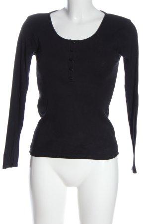 Asos Petite Koszulka z długim rękawem czarny W stylu casual
