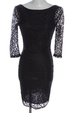 Asos Petite Sukienka mini czarny Na całej powierzchni Elegancki