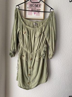 ASOS Petite Schulterfreieste Mini Utility Kleid