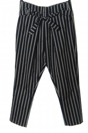Asos Petite Jersey Pants blue-white striped pattern business style