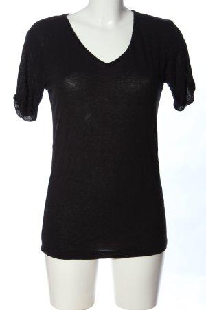 Asos Petite V-Ausschnitt-Shirt schwarz Casual-Look