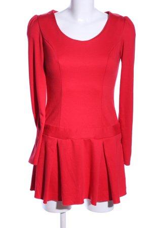 Asos Petite Vestido estilo flounce rojo look casual