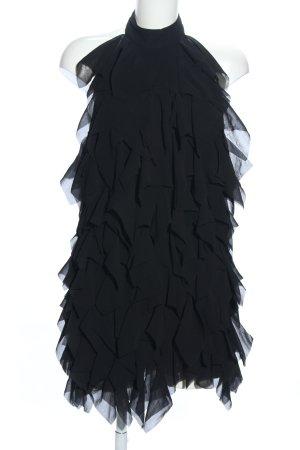 Asos Petite Volante jurk zwart elegant